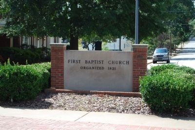 The First Baptist Church Roadsign Photo, Click for full size