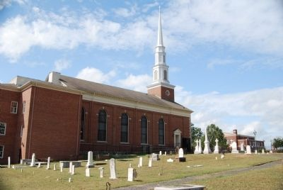 The First Baptist Church and Cemetery Photo, Click for full size