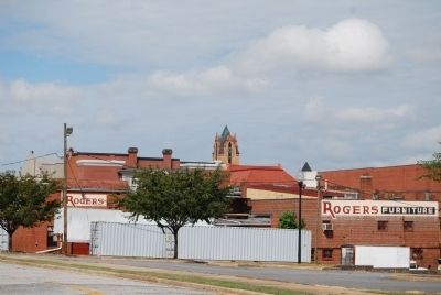 Eastside of Downtown Anderson<br>From West (Main) Portico of First Baptist Church image. Click for full size.
