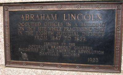 Lincoln / Lamon Law Office Marker image. Click for full size.