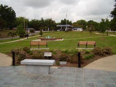 Area in front of the Greer Area Veterans Memorial Marker image. Click for full size.