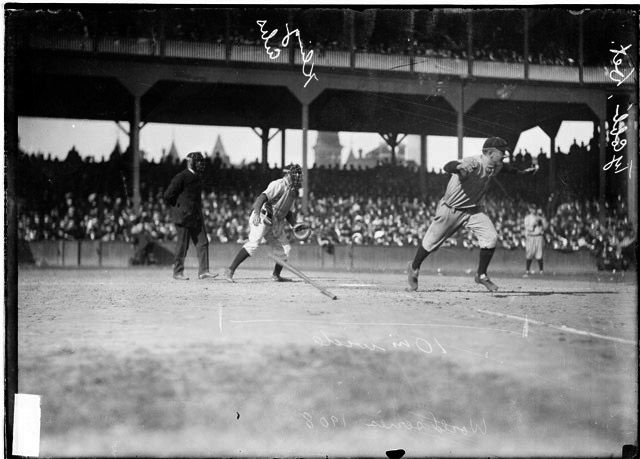 Dramatic Photo from the 1908 World Series image. Click for full size.