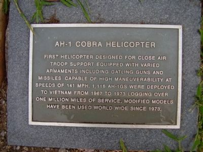 AH-1 Cobra Helicopter Marker image. Click for full size.