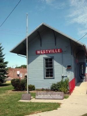 Westville War Memorials - Railroad Depot Photo, Click for full size