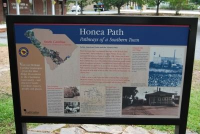 Honea Path Marker - Front Photo, Click for full size