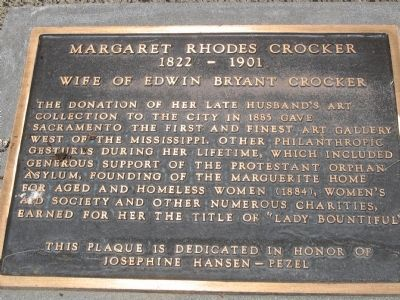 Margaret Rhodes Crocker Marker image. Click for full size.