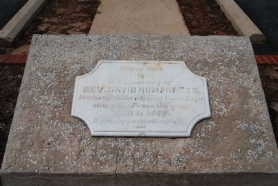Memorial to Rev. David Humphreys<br>Pastor of Roberts Church from 1821-1869 Photo, Click for full size