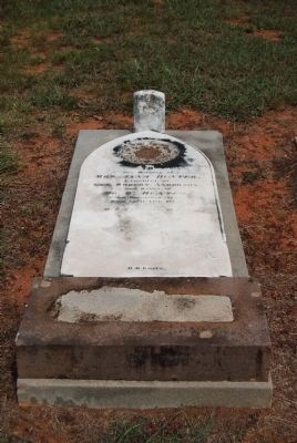 Anna Anderson Hunter Tombstone image. Click for full size.