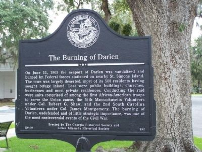 The Burning of Darien Marker Photo, Click for full size