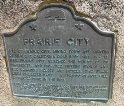Prairie City Marker image. Click for full size.