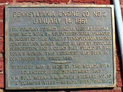 Pennsylvania Engine Co. No. 2 Marker image. Click for full size.