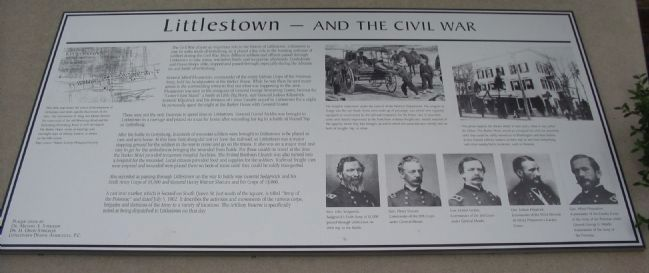 Littlestown - And the Civil War Marker image. Click for full size.