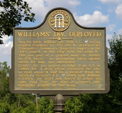 Williams' Div. Deployed Marker image. Click for full size.
