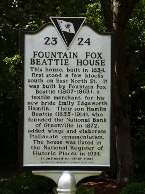 Fountain Fox Beattie House Marker image. Click for full size.