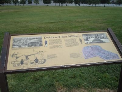 Evolution of Fort McHenry Marker image. Click for full size.