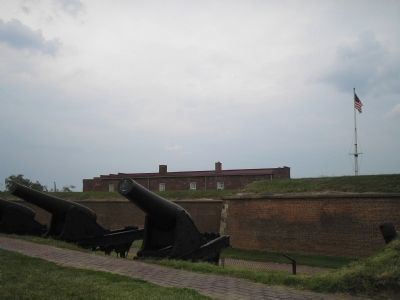 Fort McHenry's Big Guns image. Click for full size.