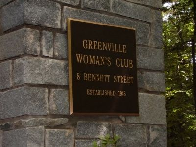 Greenville's Woman's Club image. Click for full size.