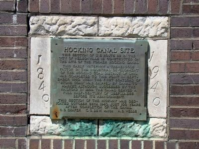 Hocking Canal Site Marker image. Click for full size.