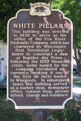 White Pillars Marker image. Click for full size.