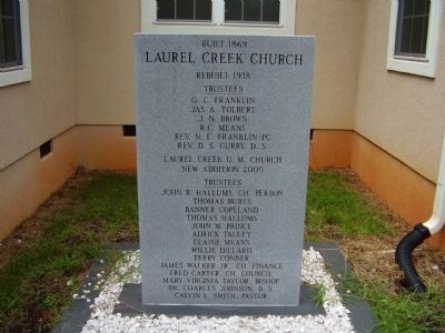 Laurel Creek Church Marker image. Click for full size.