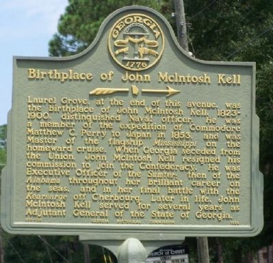 Birthplace of John McIntosh Kell Marker Photo, Click for full size