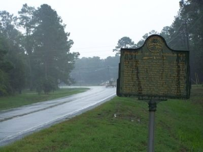 Birthplace of John McIntosh Kell Marker, looking north along Ridge Rd image. Click for full size.