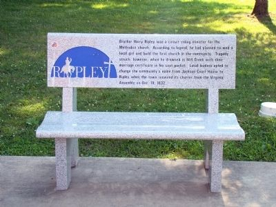Brother Harry Ripley Bench image. Click for full size.