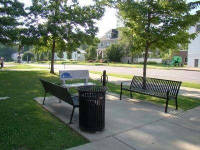Brother Harry Ripley Bench at Courthouse Square image. Click for full size.