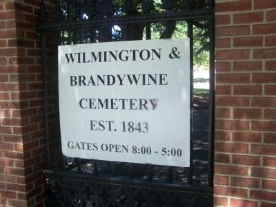 Adjoining Wilmington & Brandywine Cemetery image. Click for full size.