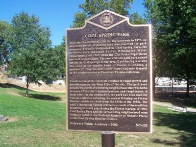 Cool Spring Park Marker image. Click for full size.
