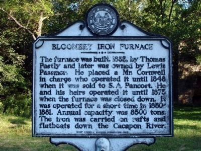 Bloomery Iron Furnace Marker image. Click for full size.
