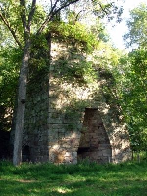 Bloomery Iron Furnace image. Click for full size.