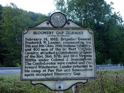 Bloomery Gap Skirmish Marker image. Click for full size.