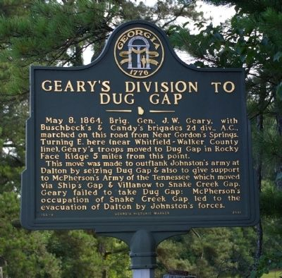 Geary's Division to Dug Gap Marker image. Click for full size.