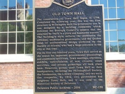 Old Town Hall Marker image. Click for full size.