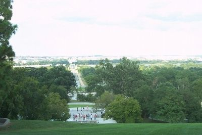 View eastward toward Washington, D.C., from the L'Enfant marker image. Click for full size.