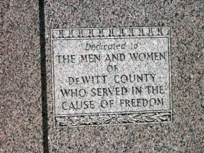 In Memoriam - - DeWitt County Clinton, Illinois War Memorial Marker image. Click for full size.