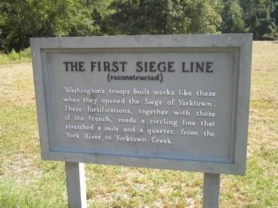 The First Siege Line Marker image. Click for full size.