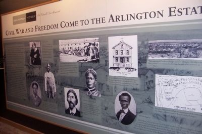 Interior Exhibit on Black Families associated with Arlington House image. Click for full size.