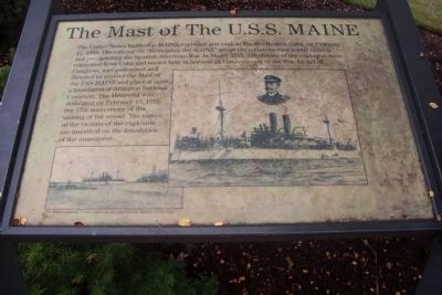 Mast of the USS Maine Marker image. Click for full size.