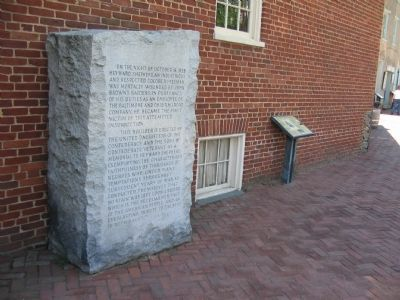 The Sheperd Monument and the Harper's Ferry History Marker image. Click for full size.
