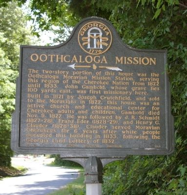 Oothcaloga Mission Marker image. Click for full size.