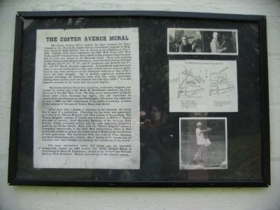 The Coster Avenue Mural Information Sign image. Click for full size.