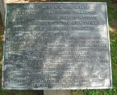 134th Regiment New York Infantry Tablet image. Click for full size.
