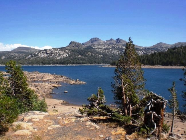 View of Caples Lake from Marker image. Click for full size.