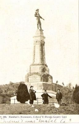 Vintage Postcard of The Marshall Monument image. Click for full size.