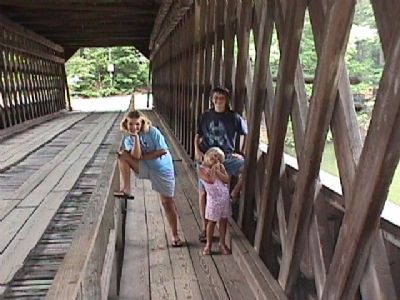 Inside view of Covered Bridge image. Click for full size.