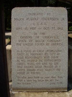 rudolf anderson Major rudolf anderson hadde blitt skutt ned i sitt u2fly og det lå krasjet i bakken, rudolf var død det var khrustsjov som hadde makten på cuba,.