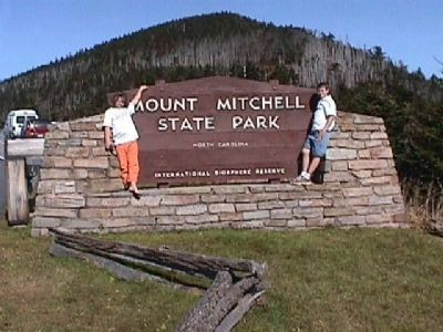 Mt. Mitchell State Park entrance sign. image. Click for full size.