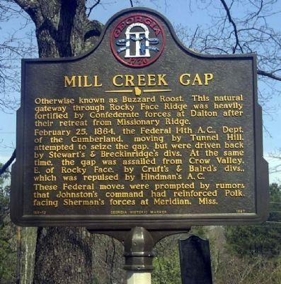 Mill Creek Gap Marker image. Click for full size.